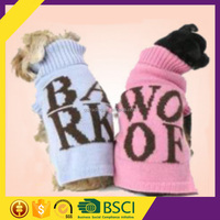 Fashion Bark And Woof Letter Comfortable Big Custom Designer Pet Clothes Dog