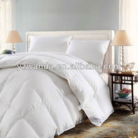 100% cotton fabric 90% white duck/goose down comforter set