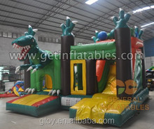 Animal world Inflatable Jurassic Combo Bouncer castle and Slide jumping house moonwalk for amusement/water park fun game sport