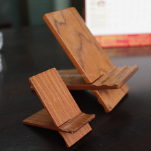 Wooden X shape Mobile stand wood cell phone holder