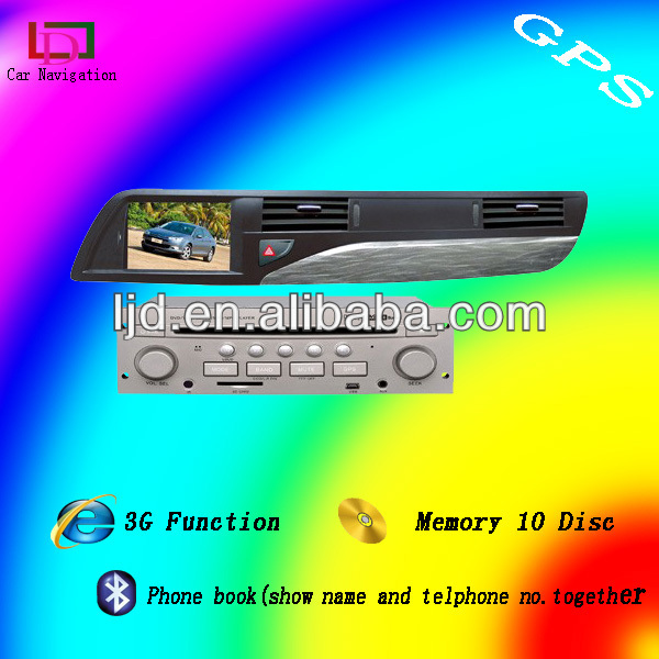 citroen c5 car dvd player radio system built-in gps / am/fm radio/tv