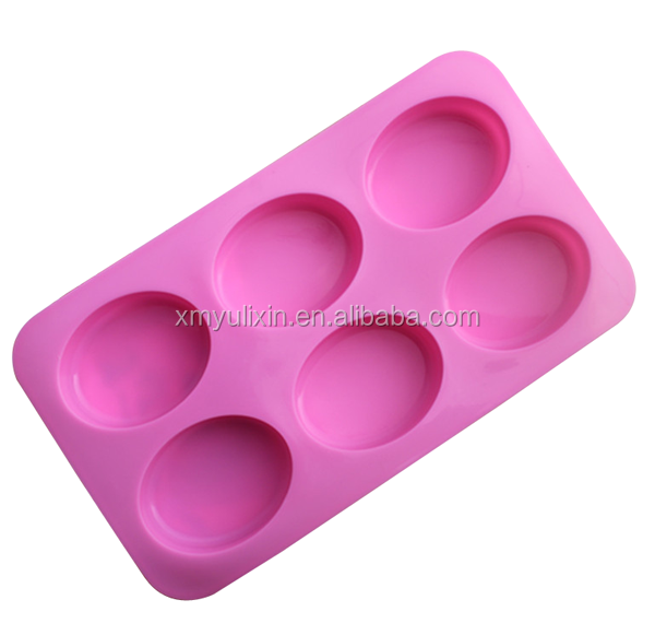 100% <strong>silicone</strong> 6 oval handmade soap mold