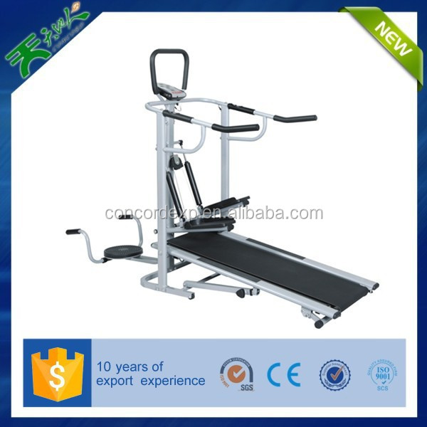 2015 china supplier fitness easy installment Manual treadmill