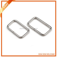 Hot sell bag parts rectangular ring metal welded square ring