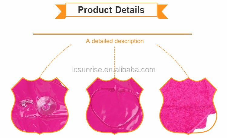 Wholesale Heart Shape Bath Pillow With Suction Cup