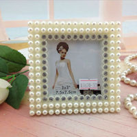 Wholesale Lovely Design photo frame Square Shaped Wedding Frame Photo small size beautiful plastic photo frames baby pictures