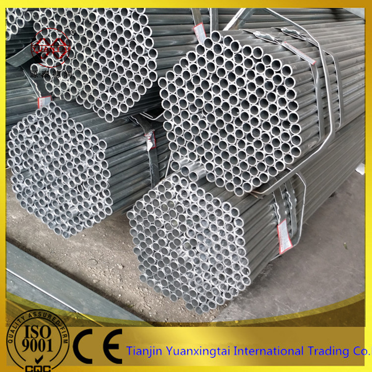 support system hot dipped galvanized scaffolding round steel pipe