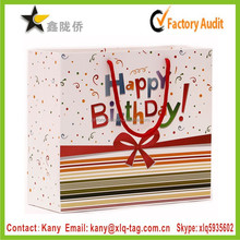 2015 professional export art paper printed birthday gift packaging paper bag