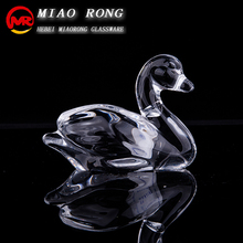 Wholesale high quality animal duck glass figurines