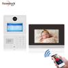 Code/RFID Card/Indoor Monitor Unlock and Mobile APP Remote Access Multi Apartment Video Door Phone Intercom System