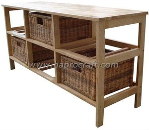Rectangular Rubber wood Cabinet