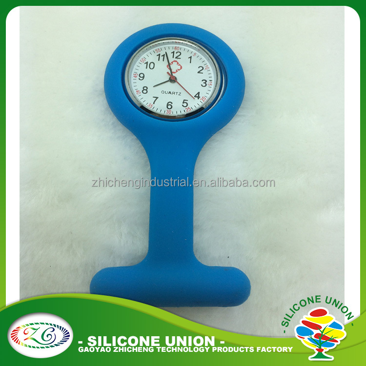 100% factory direct hot sell 2016 custom silicone nurse watch, doctor watch clock/fob medical watch