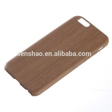 Hot Selling Soft Leather Phone Case, Soft TPU + PU Wood Back Cover Case For iPhone
