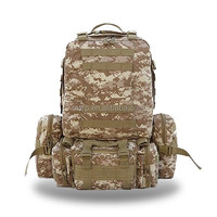Camo pattern outdoor military backpack