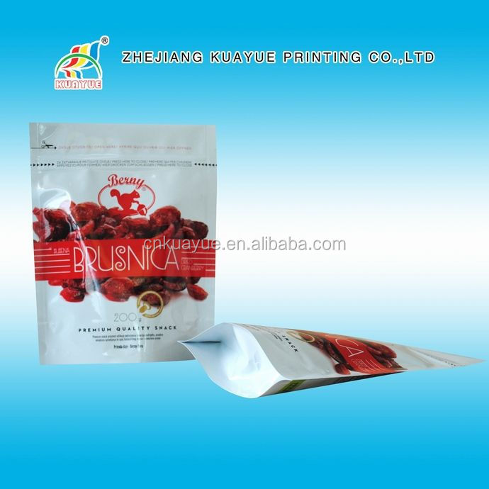 Printing Doypack With Zip Lock Bag,Resalable Stand Up Pouch,Foil Printed Pouch