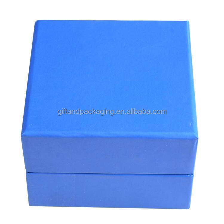 Hot selling blue square paper earings box