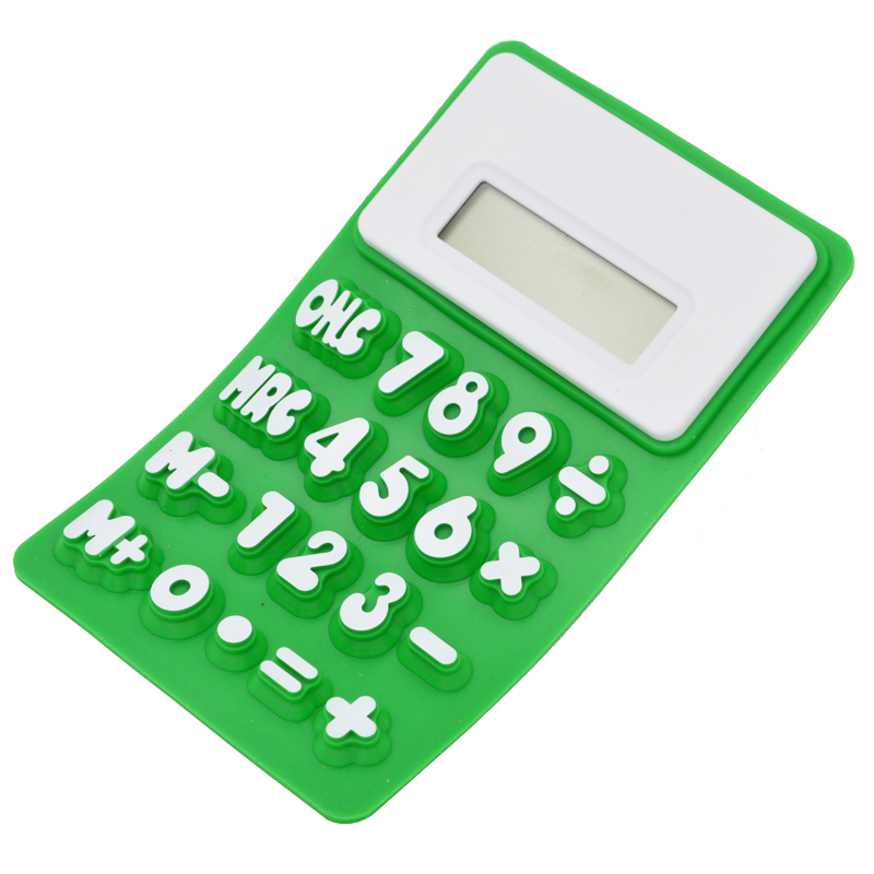 Y-1006A silicone rubber 8 digits promotional folding calculator for gift