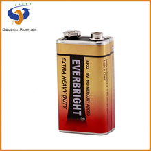 Skillful manufacture supply 9v zinc manganese dry cell battery
