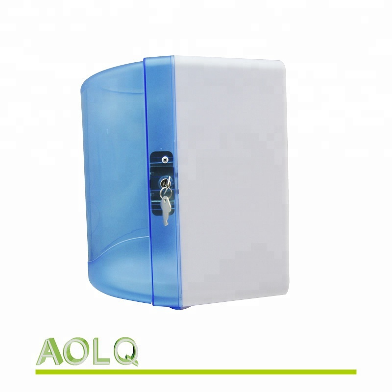 High Capacity Plastic Centerpull Paper Towel Dispenser, Blue/White/Black Color Available