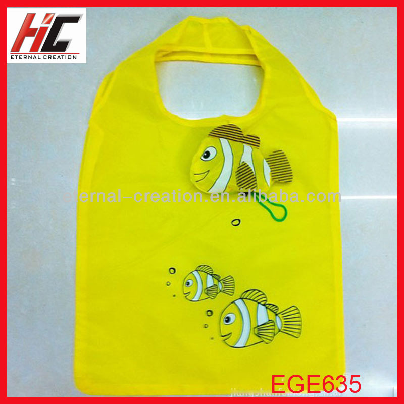 cheap foldable shopping bags polyester tote fish shopping bag