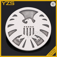 wholesale metal custom engrave silver coin