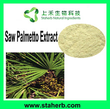 Manufacturer Supplier Herbal Extract 25%- 45% fatty acid Saw Palmetto Extract saw palmetto P.E.