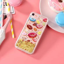 Doughnut lovely TPU cover for iPhone 7 phone Case Quicksand Phone cover for iPhone 6