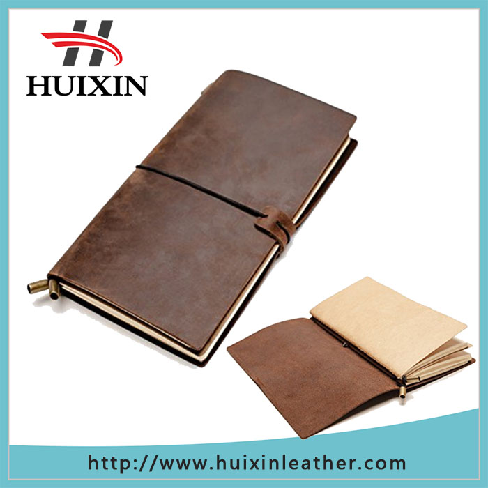 Wholesale customizedd handmade notebook leather notebook journal brown