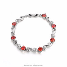 Silver Ruby Payal Design Photos 925 Silver Jewelry Women Bracelet