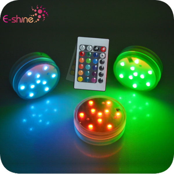 2018 New Multi-color Underwater Color Changing Remote Controlled Led Submersible Lights