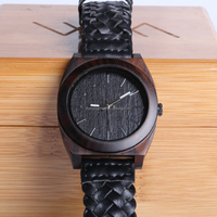 Create your own brand luminous wood pocket watch leather