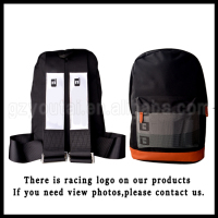 JDM Racing Backpack School Bags Black Canvas Harness Backpack,Brown Bottom Backpack