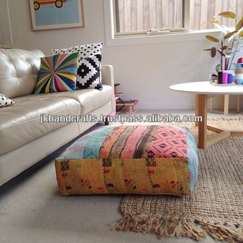 Patchwork Kantha Cushion Cover