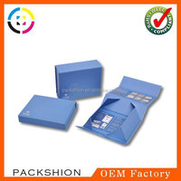 Coated Paper Covered Clamshell Box Magnetic Foldable with Brand Name