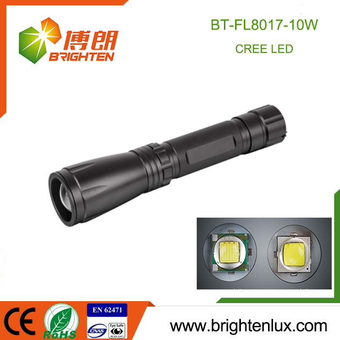 Hot Sale Zoom Focus Metal Material Portable Long Beam mechanically powered flashlight