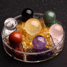 wholesale natural seven color crystal ball for home decration