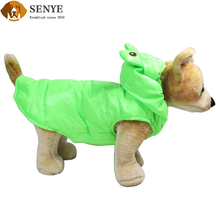 Lovely Pet Green Halloween Frog Costume Velvet Dog Clothes With Spring And Autumn