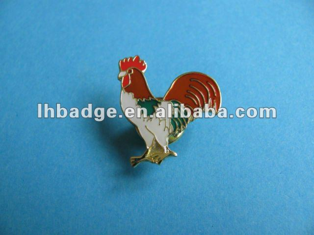 Cock shape Emblem Enamel Pin Badge
