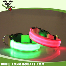 Best Selling Nylon Night Safety LED Flashing Dog Collar Glow In The Dark Pet Products for Dog Collar