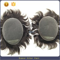 Cheap 100% Human Virgin Unprocessed Natural Hair Wig For Men