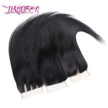 Brazilian virgin hair closure Straight Lace Closure Free 3 Middle part Human Hair Closures 8inch