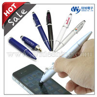 3 in 1 stylus pen drive for smartphone , ballpen , 1GB to 16GB custom Logo