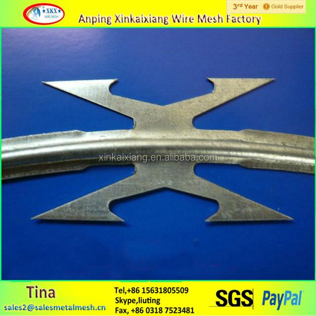 bto 12 18 20 22 concertina wire, galvanized barbed razor wire