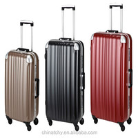 Beijing supplier TSA lock 4 wheels aluminum suitcase aluminium travel luggage