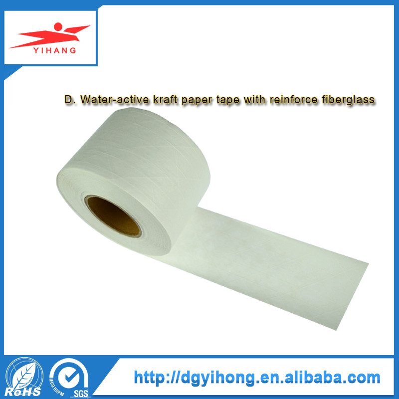 2017 High Quality Printed Gummed Kraft Tape Waterproof Tear Resistant Paper