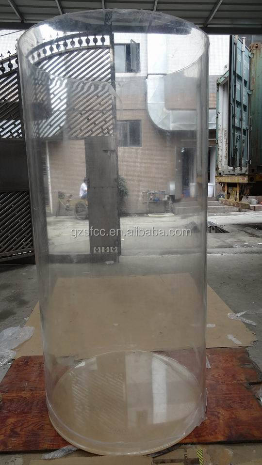 Large diameter clear acrylic plastic tube for sale