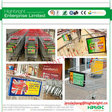 shopping trolley front advertising holder/ advertising board