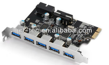 USB 3.0 PCI-E Express Expansion Card with 5V 4-Pin Power Connector for Desktops