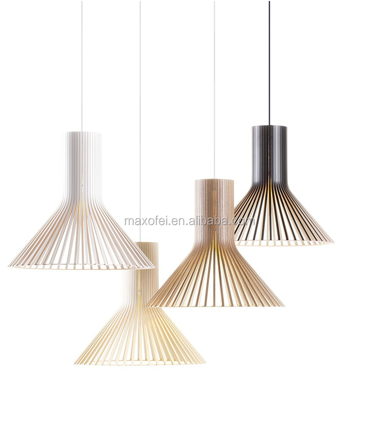 Modern wooden indoor pendant lamp kit for farmhouse decoration