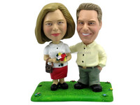 2015 Hotsale Resin Bobblehead Executive Couple; personalize bobblehead couple ,resin figurine